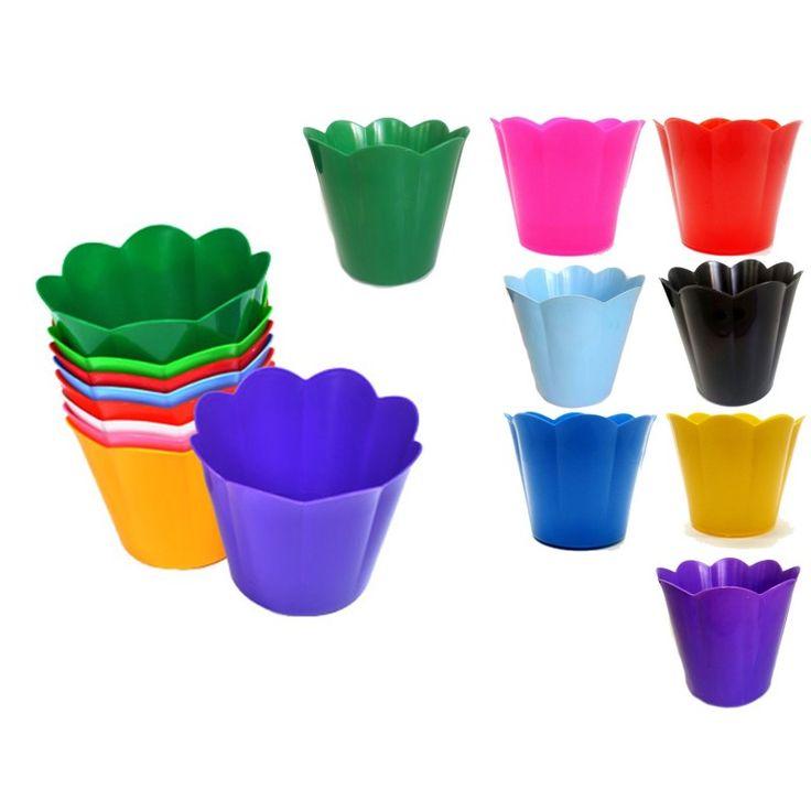 Cachepot Pequeno de Plástico Colors