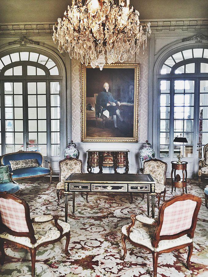 Le salon bleu ch teau de valen ay http www for Le salon chatou