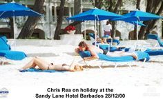 Chris Rea at the Sandy Lane Hotel, Barbados