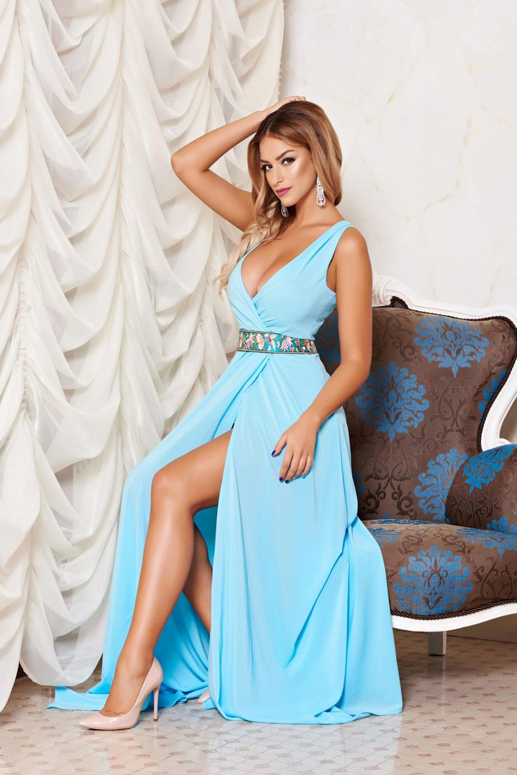 Rochie StarShinerS Diva Idol Blue. Rochie StarShinerS de seara, prevazuta cu…