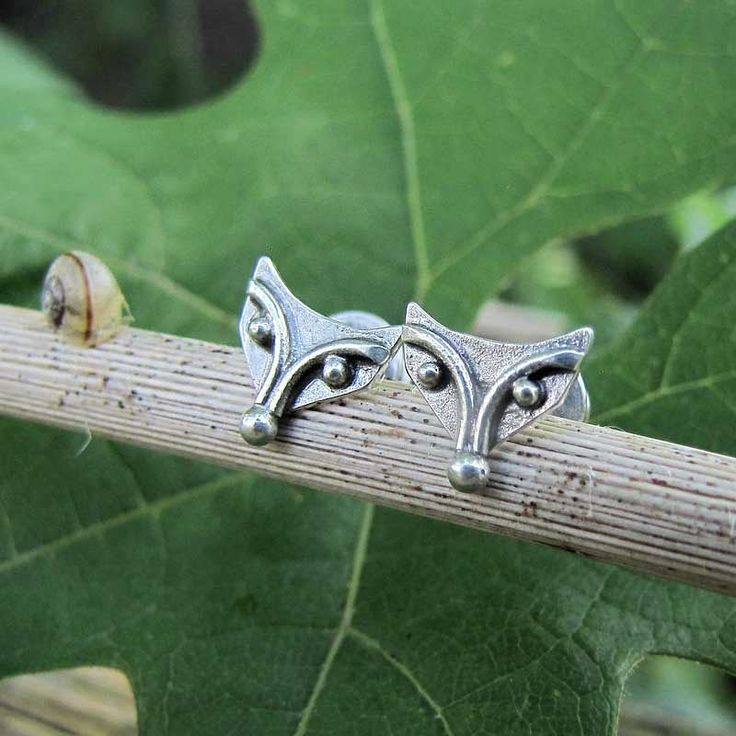 www.polandhandmade.pl   ---   Little foxes did fled from my studio. They would rather live in the forest    ---    #polandhandmade #amadestudio #silvercraft #artisanjewelry #silveranimal #metalart #fox