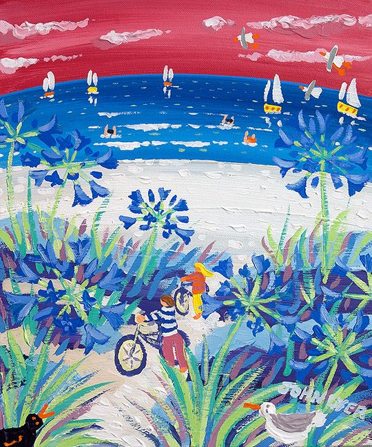 Sunset Cycling Tresco by John Dyer