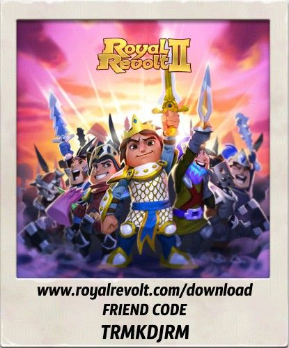 Build your own kingdom and lead your army to victory! https://youtu.be/QWxj-qPPncY  Download Royal Revolt 2 on your mobile device: www.royalrevolt.com/download    Start the game and get an EPIC reward by entering this friend code: TRMKDJRM