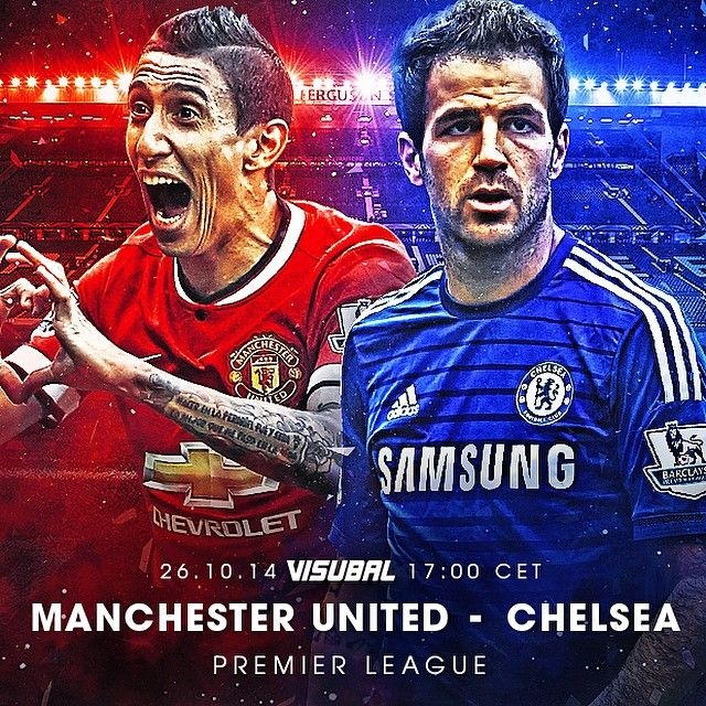 Manchester United vs. Chelsea today!  Who will win? #PremierLeague