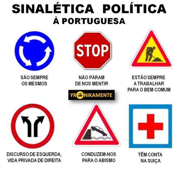 sinalética politica portuguesa :)
