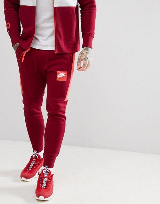 9c01fcbf3844 Nike Air Tracksuit in Red   Men s Tracksuit Collection.   Pinterest ...