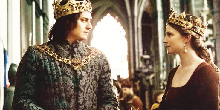 King Richard III and Queen Anne Neville as portrayed in The White Queen which is based on the Philippa Gregory novels, The Kingmaker's(Earl of Warwick)  Daughter(Anne Neville) The White Queen, about Elizabeth Woodville, and the Red Queen(Margaret Beaufort, the mother of Henry Tudor, who defeated Richard and became Henry VII)