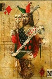 roi bouffon miroir