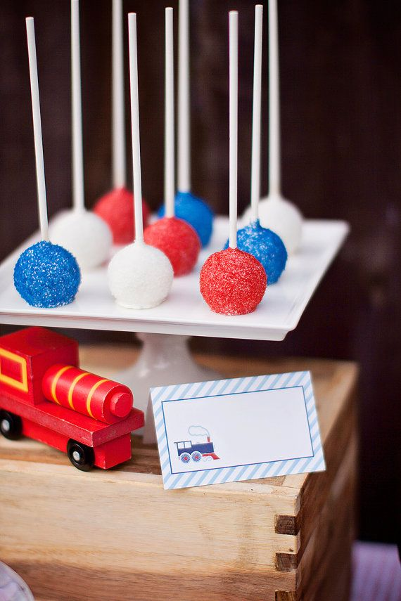 DIY Printable Food Labels/Tents  Train Party by paigesofstyle, $7.00