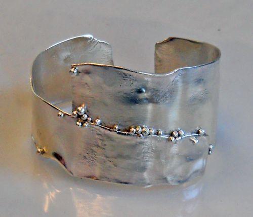 reticulated silver bracelet :Christine Peters Hamilton
