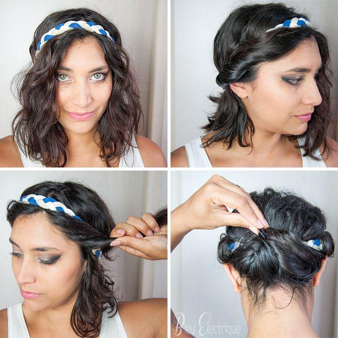 UNE JOLIE COIFFURE EN 5MN #7 – 3 coiffures sur cheveux courts | | Bleu Electrique