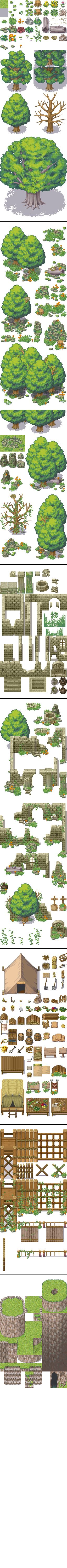 Tileset bosque expansion rtp - RPG Maker XP by Mataraelfay.deviantart.com on @deviantART