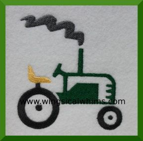 Tractor Farming Farm Embroidery Design Digitized by WingsicalWhims