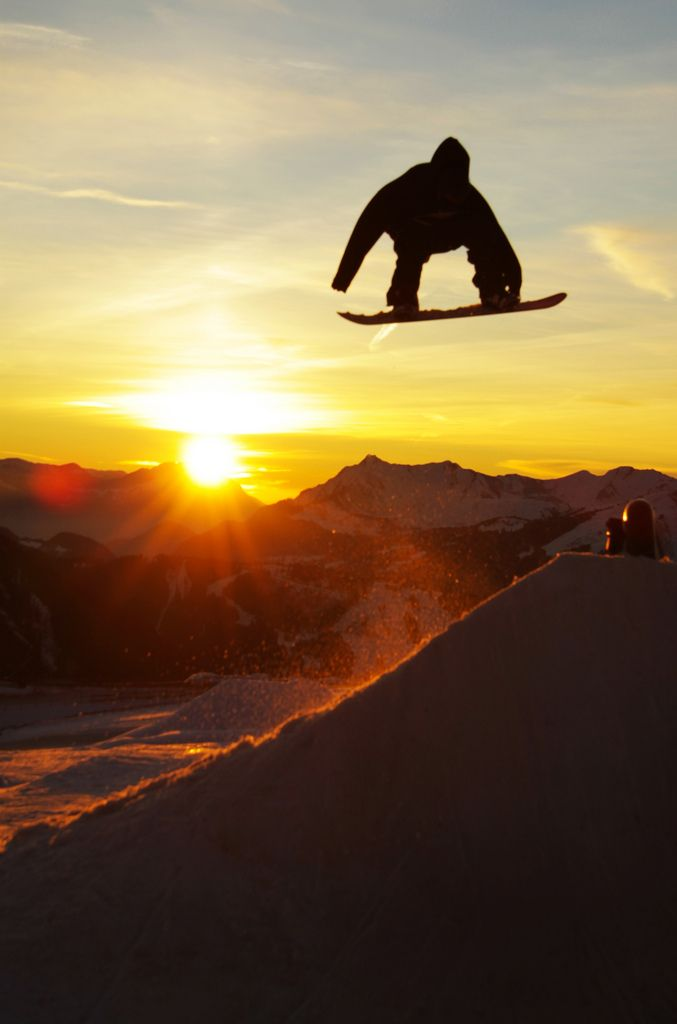 Snowboarding Wallpaper Sunset