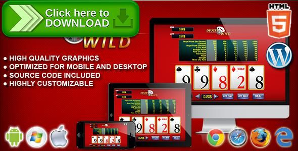 [ThemeForest]Free nulled download Video Poker Deuces Wild - HTML5 Casino Game from http://zippyfile.download/f.php?id=56737 Tags: ecommerce, blackjack, bonus poker, card, card games, casino, casino games, deuces wild, gambling games, jacks or better, joker's wild, poker, slot, Tens or better, video poker, videopoker