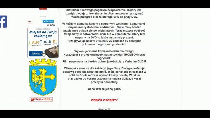 Proponuję państwu przegrywanie kaset VHS na płyty DVD http://www.alleopole.pl/ogloszenie,przegrywanie-kaset-video-vhs-na-dvd,0LCa8dCBTNdck0A37x60a,1192.html