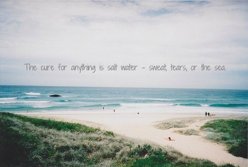The Cure For Anything Is Salt Water. Isak Dinesen Quote