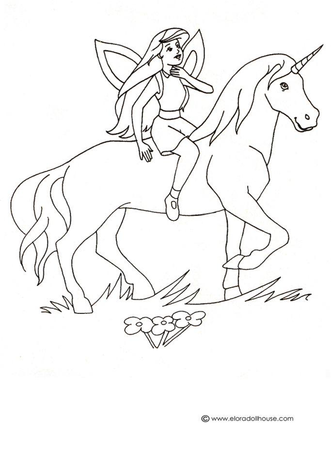 Unicorn Coloring Page Unicorn