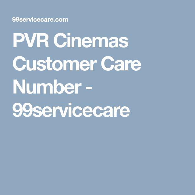 PVR Cinemas Customer Care Number - 99servicecare