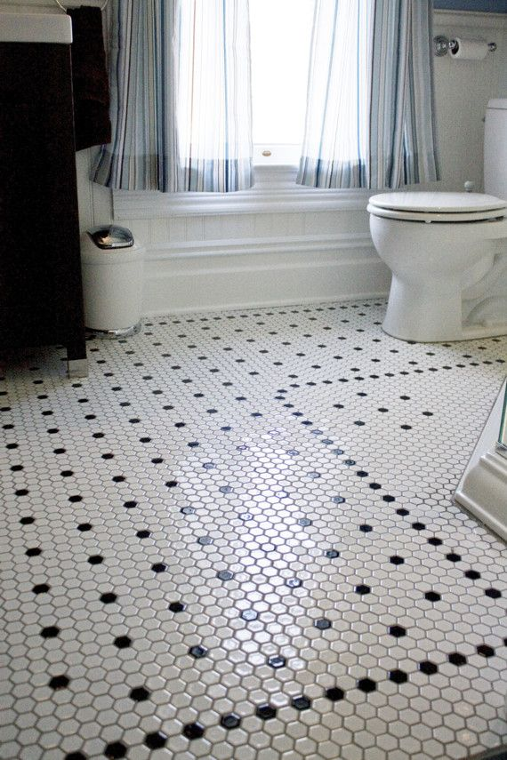 Style Spotlight Octagon Mosaic Floor Tile A Clic Look Making Comeback Harms Carpet One Powder Room In 2018 Pinterest Bathroom