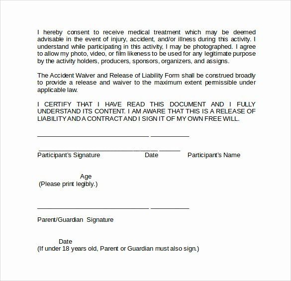 General Liability Waiver Form Template Inspirational Sample Liability Waiver Form 9 Download Free Documents Liability Waiver General Liability Liability