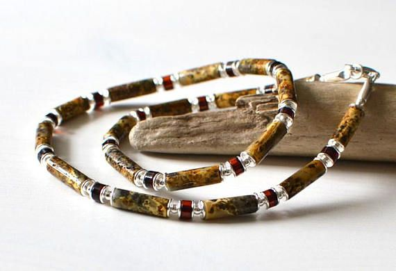 Untreated Amber Mens Necklace Men's Jewelry Natural