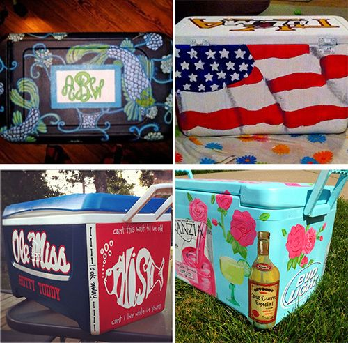 DIY Gift Guide... and Also... My pretty friend Rachel is the one who painted that Ole Miss cooler! How awesome is she?