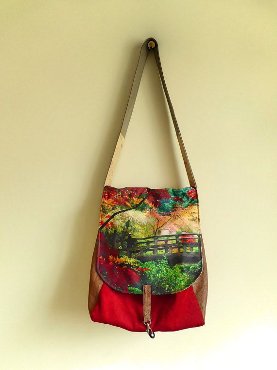 Autumnal Bike Pannier by ANaif on Etsy