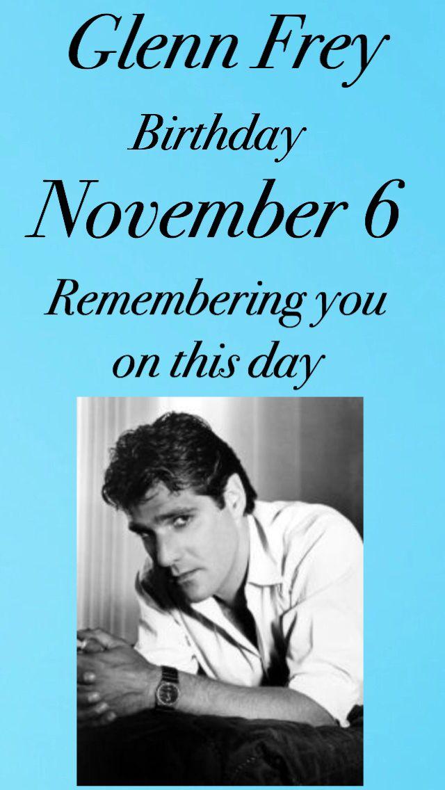 Nov 6 Glenn Bday