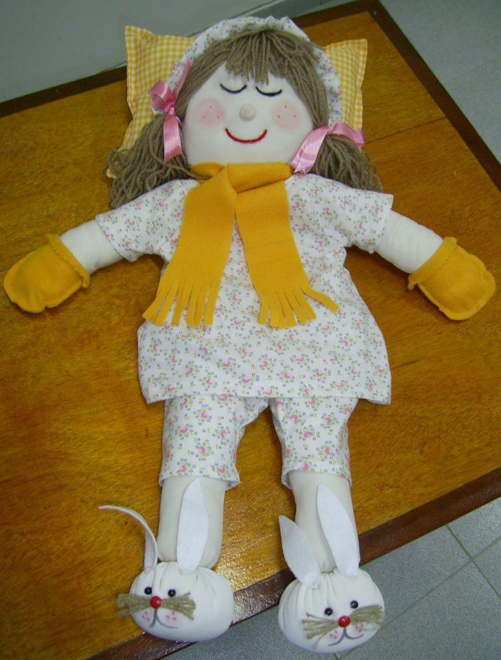 boneca de pano porta pijama