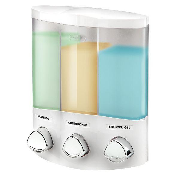 Better Living Products Euro Three Chamber Dispenser White Shower