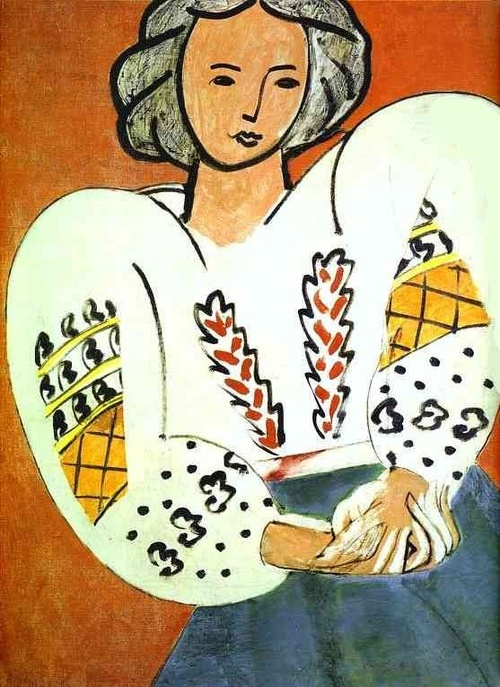 Henri Matisse was inspired by the Romanian folk art and created #LaBlouseRoumaine
