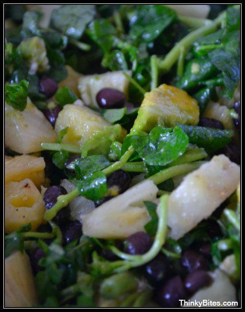 Tropical Watercress and Black Bean Salad — Thinky Bites.