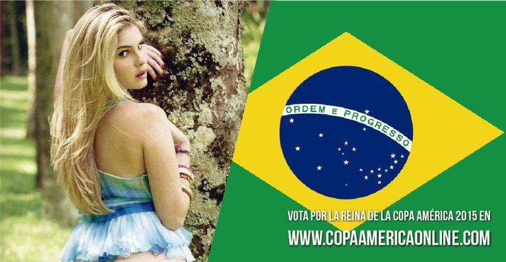 Candidata a Reina de la Copa América 2015, representando a Brasil Bárbara Evans a Votar por tu favorita #ReinaCopaAmerica2015 http://ow.ly/Ojdjq