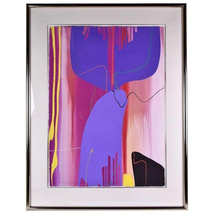 1990er Jahre abstrakte Gouache-Malerei auf Papier von Lamar Briggs