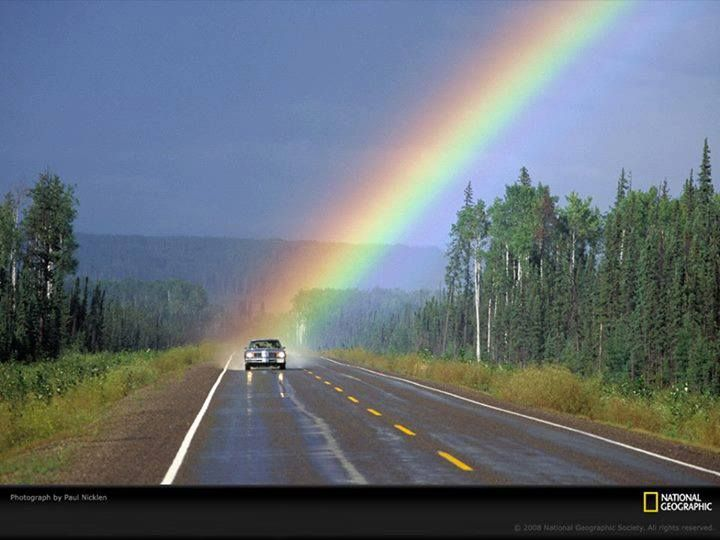 Rare shot of the end of a rainbow (photo: NatGeo)