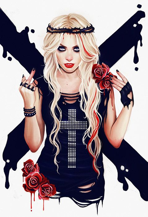 Go to hell gothic rock grunge artprint by AnnaMarine on Etsy