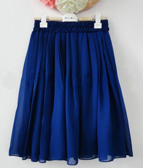 Vintage Inspired Chiffon High Waisted Mini Royal Blue. Price: TBA Shonz Fashion