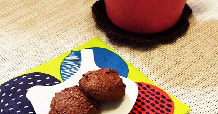 ガルボみたいな焼きチョコみたいなクッキー☆普段からあるたった三つの材料でいつでもすぐに作れます☆☆☆