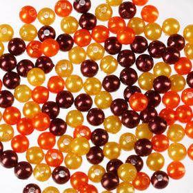 Oryginalny zestaw pereł ok 250 szt złoto-brąz-pomarańcz