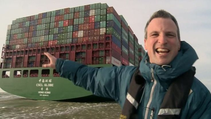 The world's largest container ship has arrived in the UK for the first time at the Port of Felixstowe.