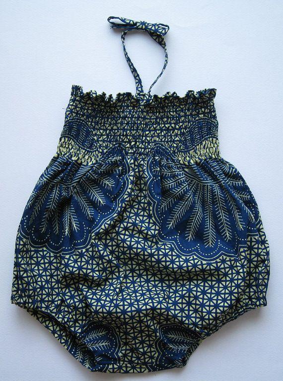 African Batik Play Suit
