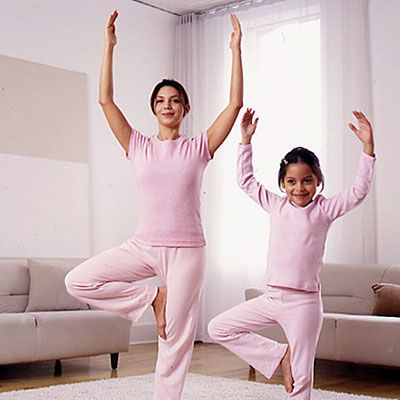 be fit and more flexible with simple yoga positions you can do with the whole family...
