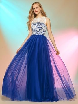 41be0c2c4218 Cute A Line Contrast Color Long Sleeve Prom Dress I love this dress. And  You?