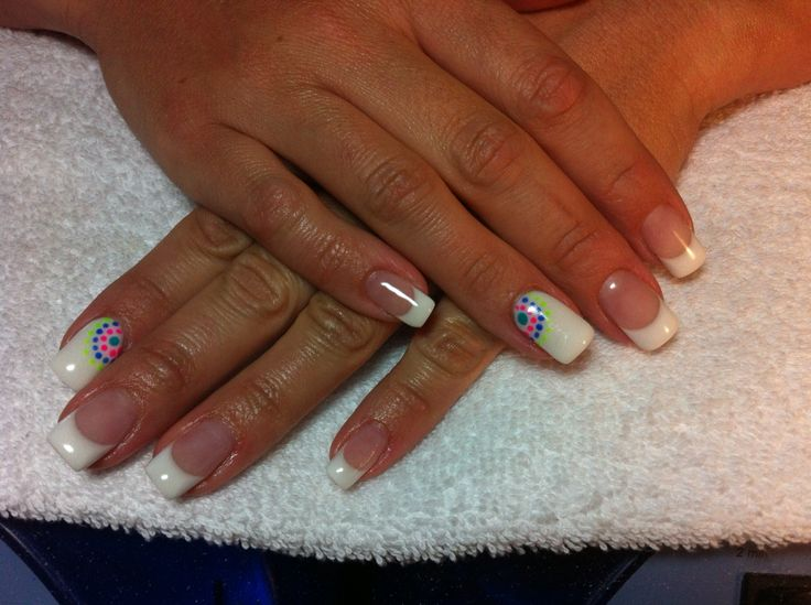 French white square gels with solid white ring and pointer with mosaic dots