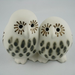 Image of Strawberry Hill Art Pottery Double Owls