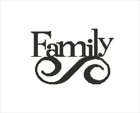 Buy 2 Get 1 Free-Family Cross Stitch Pattern-modern cross