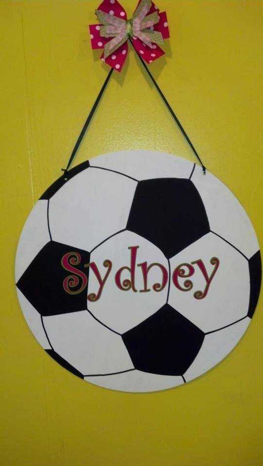 Soccer+Ball+Wall/Door+Hanger+by+BackyardMetalArts+on+Etsy,+$40.00