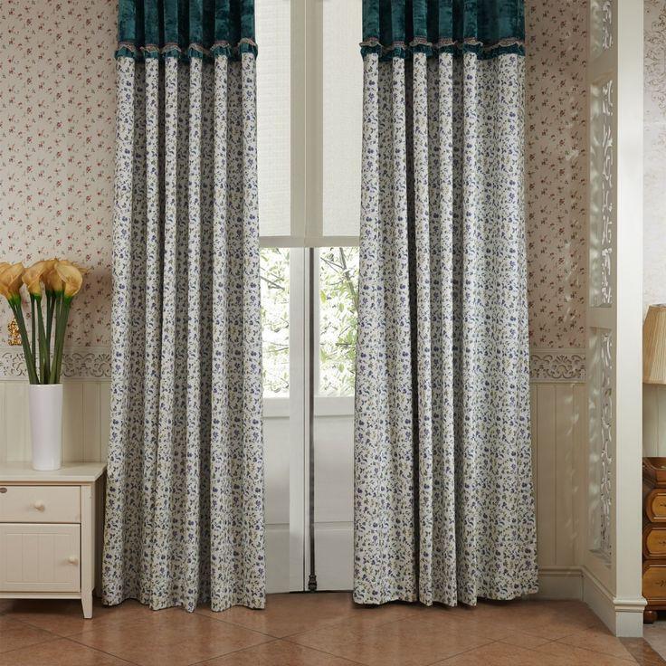 Country Flowers Everywhere Energy Saving Curtain  #curtains #decor #homedecor #homeinterior #blue
