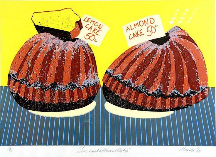 Lemon and Almond Cakes - David Turner. Australian art. Pop art.